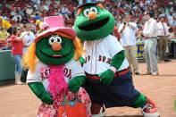 Momma Monster hat/dress, Boston Red Sox